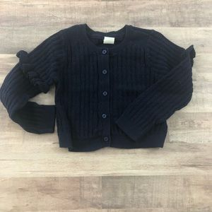GAP size 2T navy cropped cardigan sweater